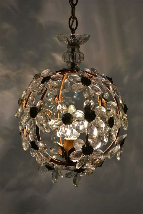 Floral Glass Ball Chandelier At 1stdibs Chandelier Glass Balls