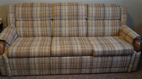 plaid sleeper sofa price reduced la z boy sofa sleeper plaid tans nex