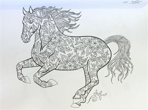 horses to color the wonderful world of horses