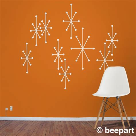 mid century vinyl wall decals atomic starbursts vinyl wall decals mid century modern