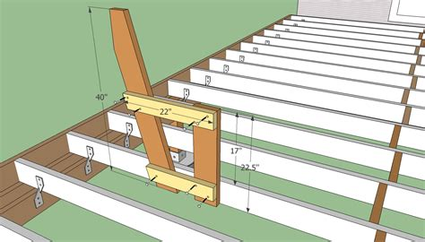 porch building plans built in deck bench with back plans 187 woodworktips