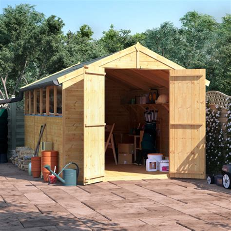billyoh master tongue  groove apex shed garden