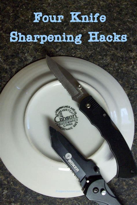 where to get kitchen knives sharpened 4 knife sharpening hacks knives easy and