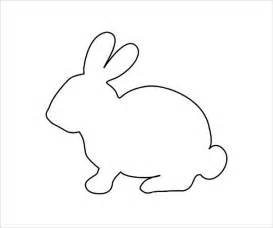 Rabbit Pictures Outline by 9 Bunny Coloring Pages