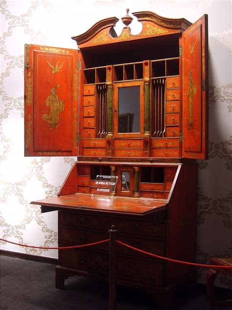 Journeyman Cabinet Maker by Desks On Napoleonic Blue Damask