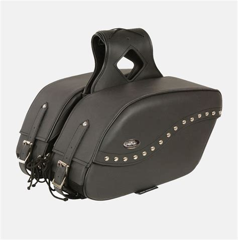 motorcycle gear online motorcycle saddlebag two piece pvc studded bikers gear
