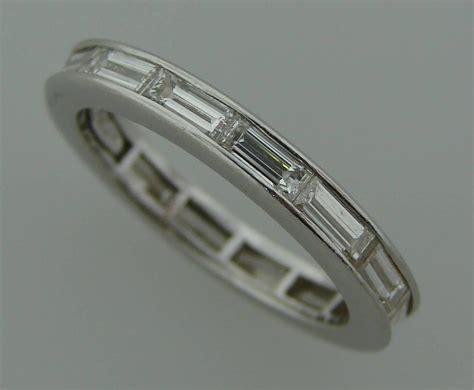harry winston baguette platinum wedding band ring