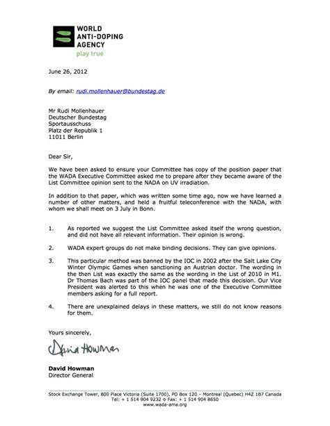 Offizieller Brief Klasse 7 Die Miserable Erfolgsquote Der Nada Sport Politics