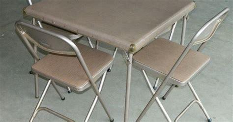 samsonite folding table and chairs set 7733 2533 vtg retro samsonite folding card table 4