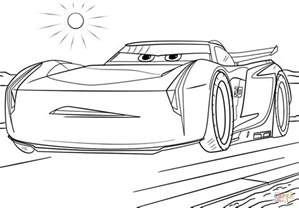Cars 3 Coloring Pages jackson from cars 3 coloring page free printable