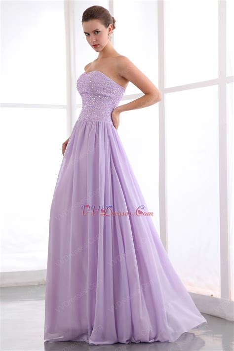 lavender color dress beading zip lilac chiffon dress for 2014 prom