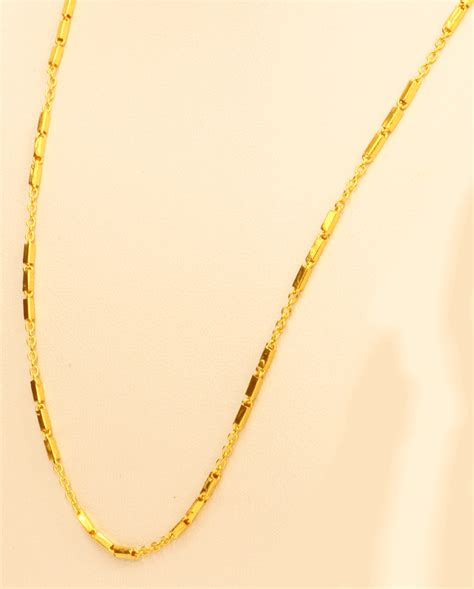 Handmade Gold Chain - 22k gold necklace chain handmade from thailand 24 quot ebay