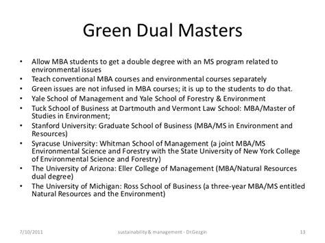 Mpa Mba Dual Degree Yale by Sustainability Management Education India 2011