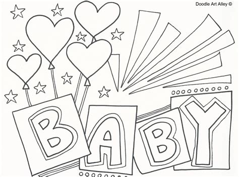 coloring page it s a baby girl cool design baby shower coloring pages for kids page free