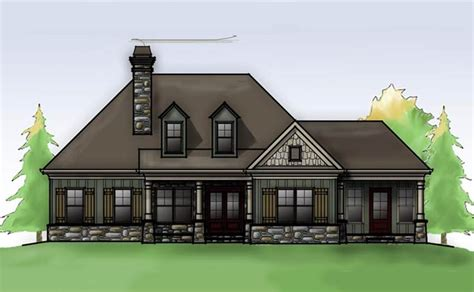 cottage house plans with garage cottage house plan with porches by max fulbright designs