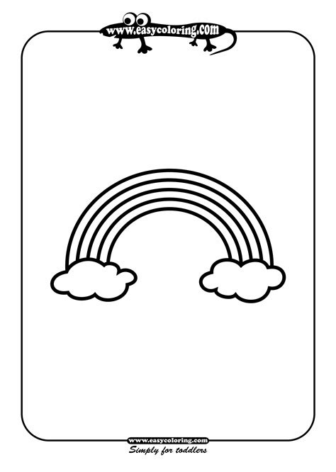 easy rainbow coloring page rainbow simple shapes easy coloring pages for toddlers