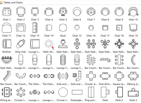 chair symbol floor plan symbols for floor plan tables best free home design