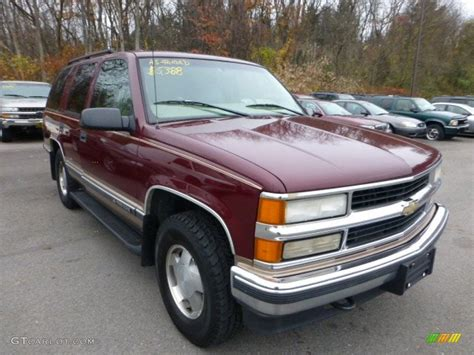 carmine metallic 1998 chevrolet tahoe lt 4x4 exterior photo 73165002 gtcarlot