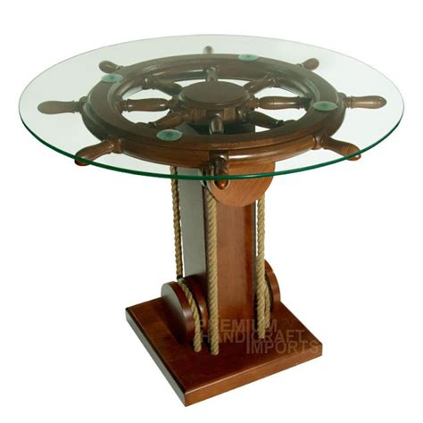 Wheel Coffee Table 28 Quot Ship Wheel Coffee Table With Glass Top Nf0002w Ebay