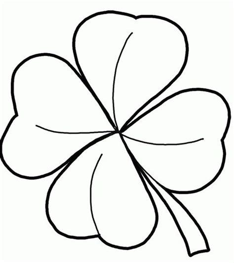 clover flower template 4 leaf clover template clipart best