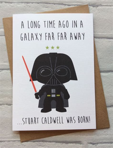 Wars Greeting Card Template by Personalised Handmade Wars Birthday Card Darth Vader
