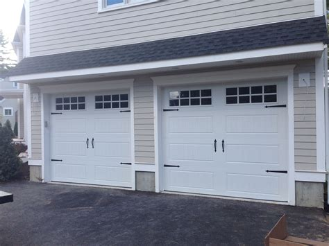 overhead door c h i overhead doors model 5916 panel steel carriage house style garage doors in white