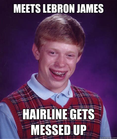 Funny Messed Up Memes - bad hairline jokes memes