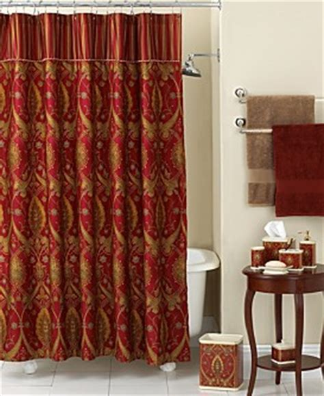 red and gold shower curtain bath collections betterimprovement com