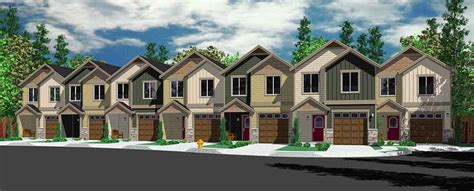 townhouse style house plans 5 plus multiplex units multi family plans