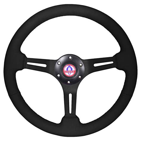 volante it volante st3060 mustang steering wheel black cobra logo
