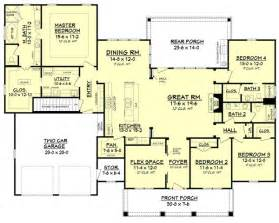 house plans with big bedrooms craftsman style house plan 4 beds 3 baths 2639 sq ft plan 430 104