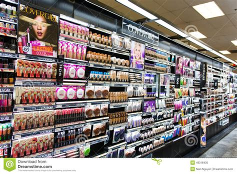 Make Up The Shop makeup aisle editorial image image of covergirl
