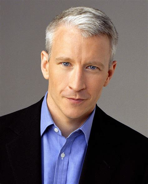 who is the cnn host with white hair we need a hero like anderson cooper cqa