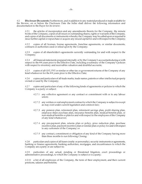 ontario share purchase agreement assignment