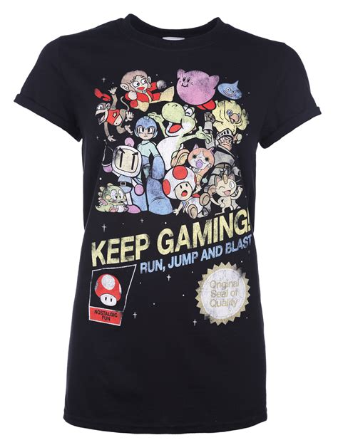Keep Gaming s keep gaming boyfriend fit t shirt with rolled sleeves