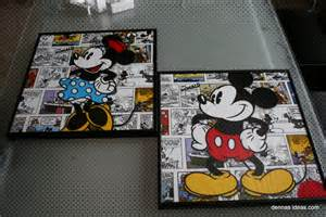 wall design ideas printing picutres mickey mouse wall