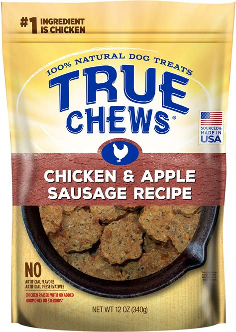 Chews Chicken true chews chicken apple sausage recipe treats 12 oz bag chewy