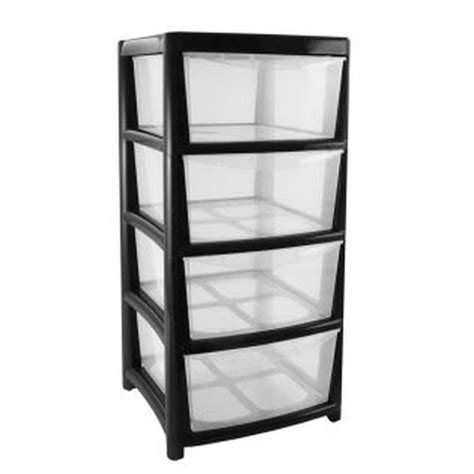 Four Drawer Storage Unit Buy Plastic Storage Tower Unit 4 Drawer At Cherry