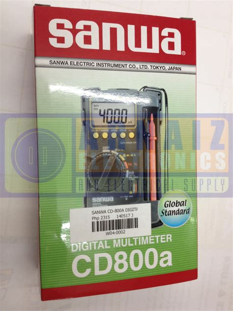 Multitester Sanwa Cd800a sanwa digital multi meter cd 800a multi tester cd800 arnaiz electronics and electrical supply
