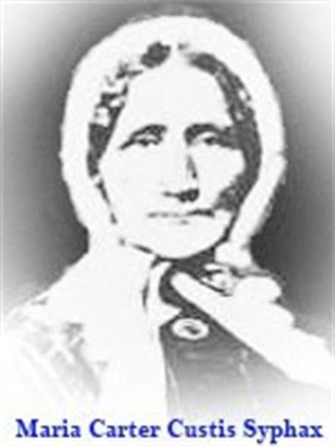 maria carter maria carter custis syphax 1804 1886 find a grave