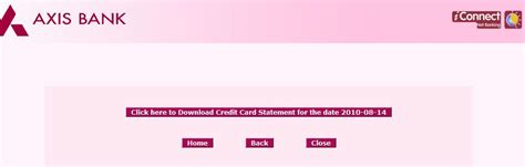 Credit Card Application Form Axis Bank Explore India Axis Bank Credit Card Statement