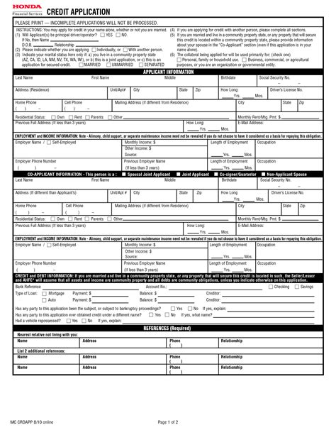 Vehicle Credit Application Template Best Photos Of Generic Credit Application Form Sle Credit Application Form Generic