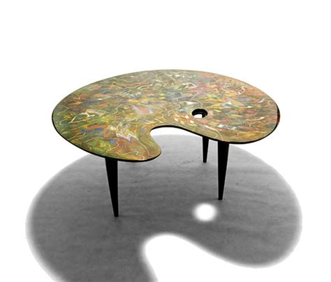 unique table unique table painted by carlo malnati design objects
