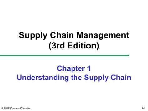 Mba Project Topics On Supply Chain Management by Supply Chain Management Ch01 Chopra