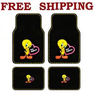 Tweety Floor Mats Car New Looney Tunes Tweety Bird Pink Hearts Car Truck Carpet