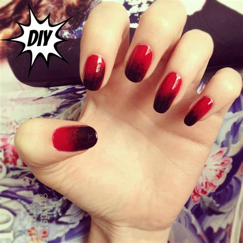 easy nail art red diy autumn gradient nail art burkatron