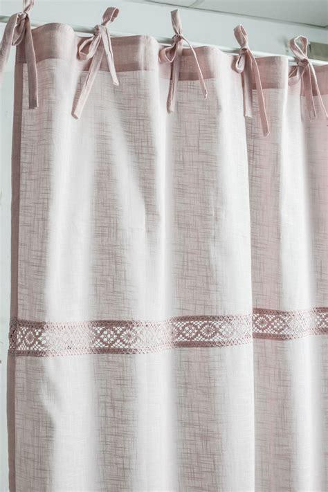 muschel vorhang muschel rosa 2x 120x250cm gardine vorhang franske