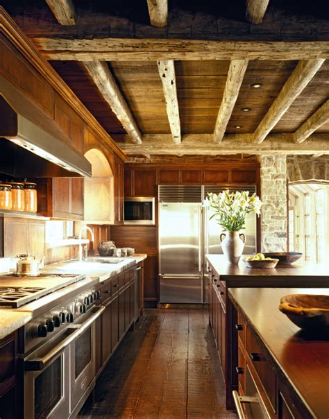 exposed wood beams traditional kitchen 183 more info