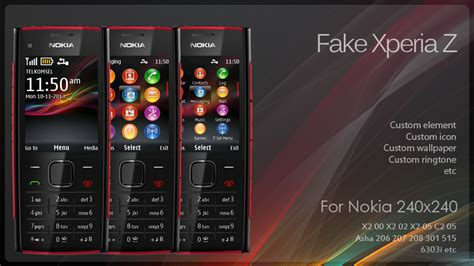 waptrick themes nokia x2 02 fake xperia z theme x2 00 240 215 320 wb7themes