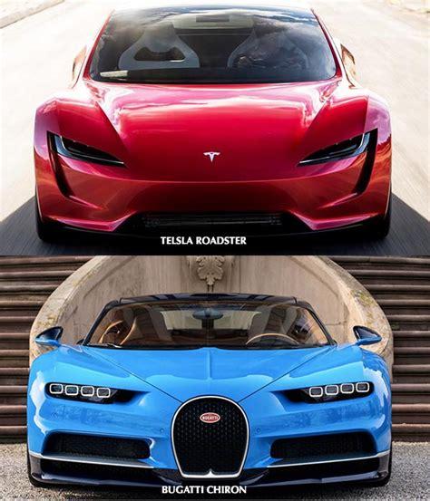 tesla roadster buy tesla roadster vs bugatti chiron which will you buy
